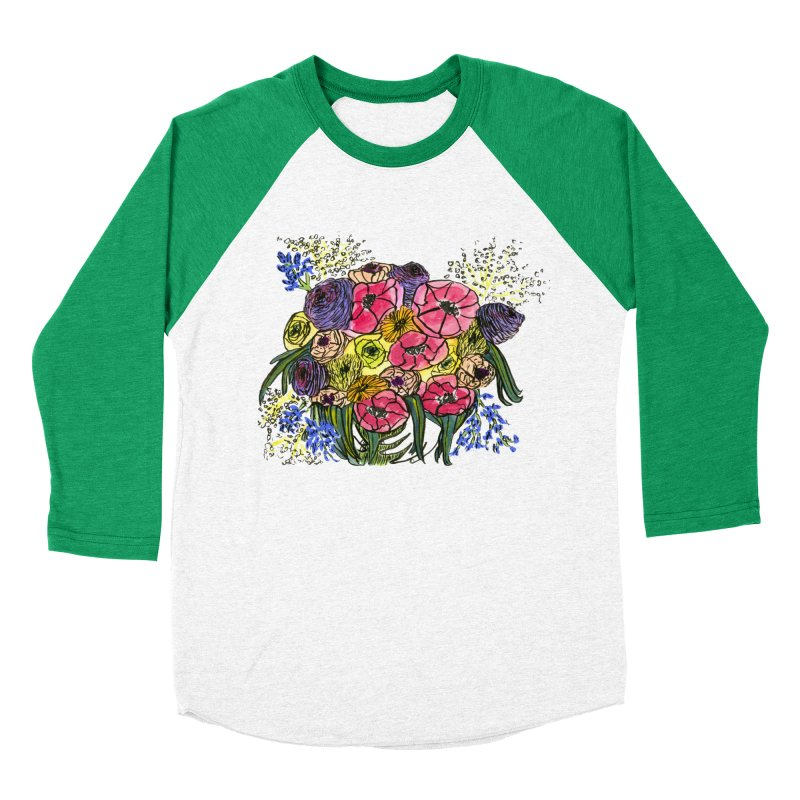 Sorry This Is Happening To You Bouquet Women's Baseball Triblend Longsleeve T-Shirt by Ashley Topacio's Artist Shop