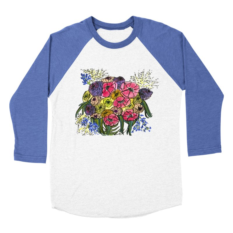 Sorry This Is Happening To You Bouquet Men's Baseball Triblend Longsleeve T-Shirt by Ashley Topacio's Artist Shop