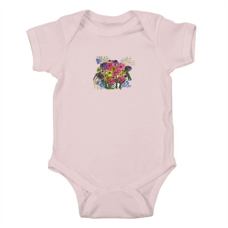 Sorry This Is Happening To You Bouquet Kids Baby Bodysuit by Ashley Topacio's Threadless Shop