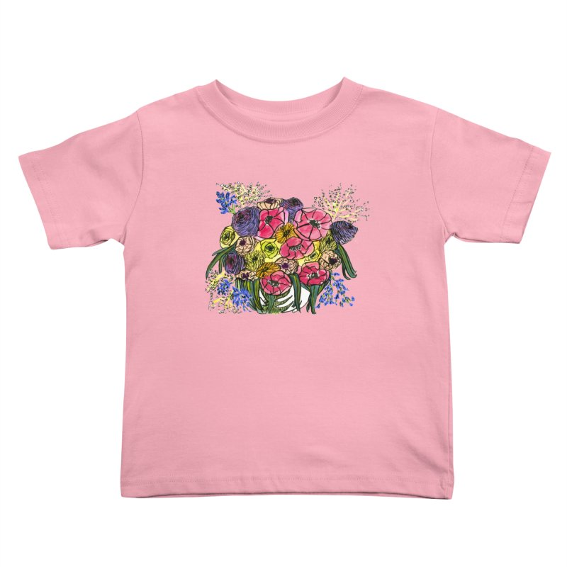 Sorry This Is Happening To You Bouquet Kids Toddler T-Shirt by Ashley Topacio's Threadless Shop