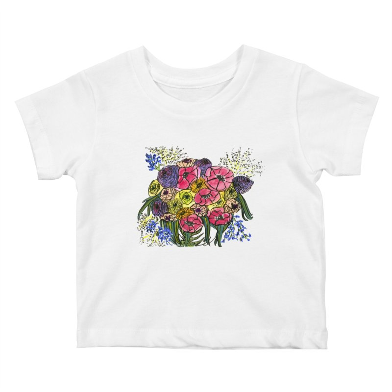 Sorry This Is Happening To You Bouquet Kids Baby T-Shirt by Ashley Topacio's Artist Shop
