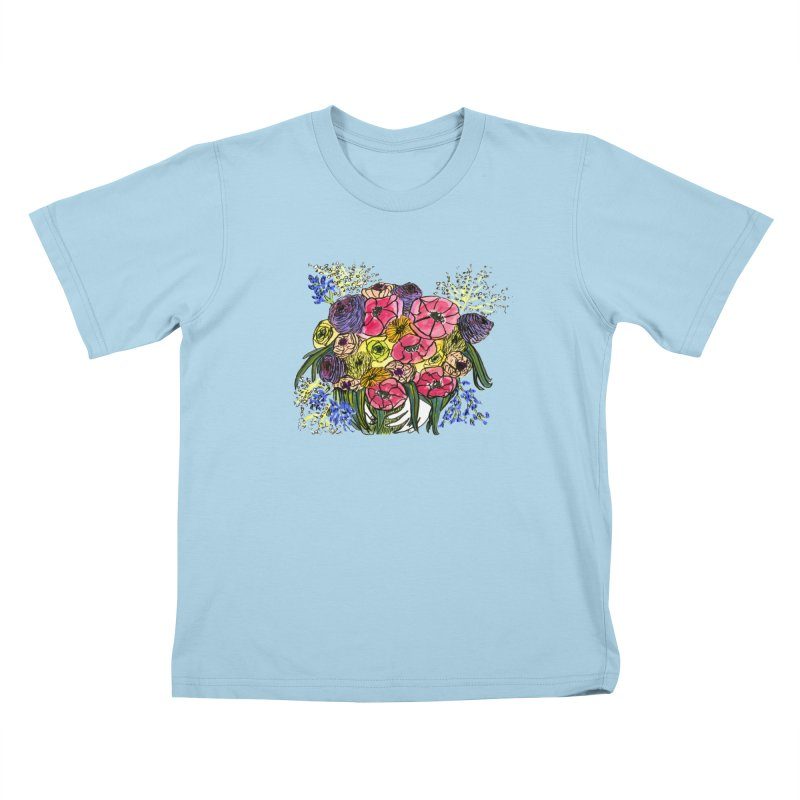 Sorry This Is Happening To You Bouquet Kids T-Shirt by Ashley Topacio's Artist Shop