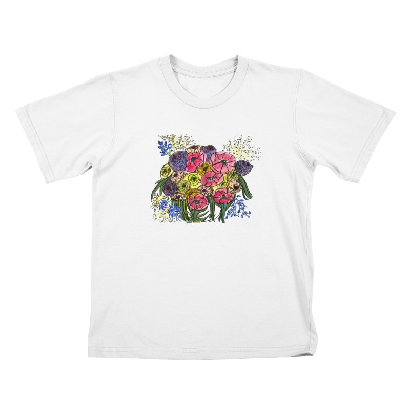 Sorry This Is Happening To You Bouquet Kids T-Shirt by Ashley Topacio's Threadless Shop