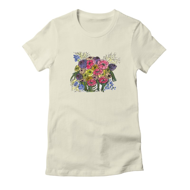 Sorry This Is Happening To You Bouquet Women's Fitted T-Shirt by Ashley Topacio's Artist Shop