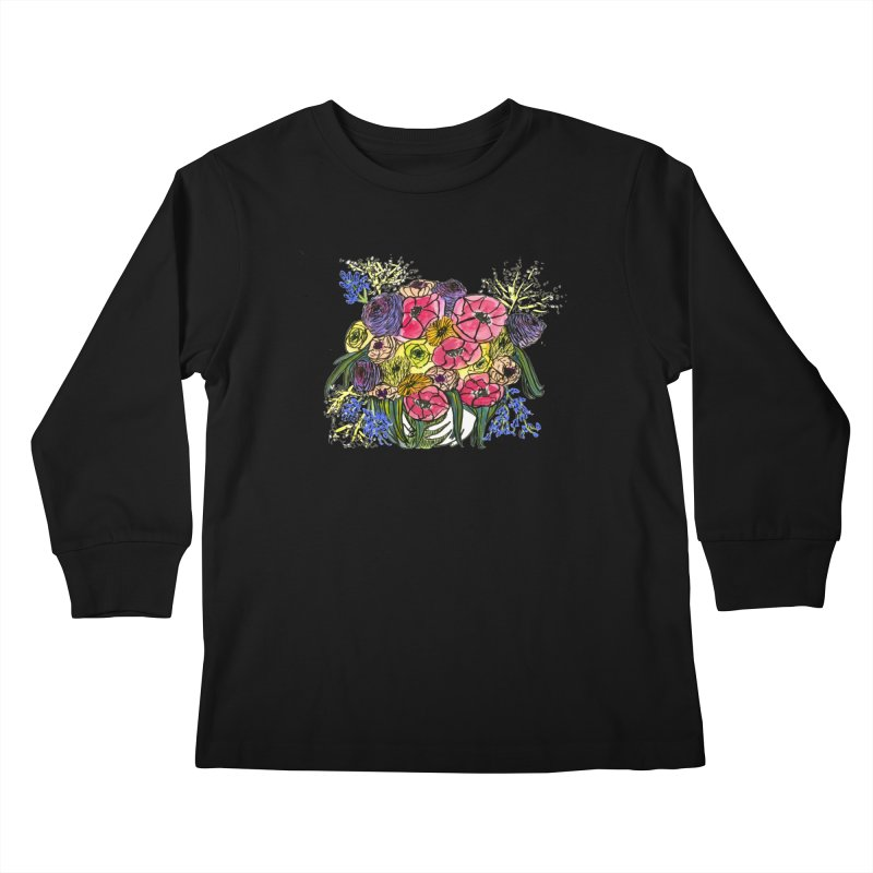 Sorry This Is Happening To You Bouquet Kids Longsleeve T-Shirt by Ashley Topacio's Threadless Shop