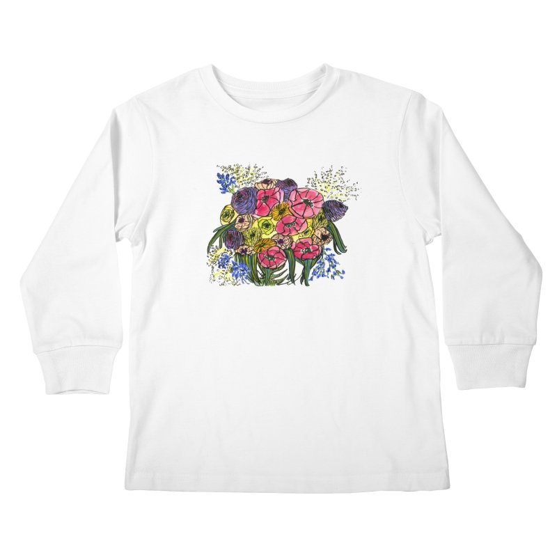 Sorry This Is Happening To You Bouquet Kids Longsleeve T-Shirt by Ashley Topacio's Artist Shop