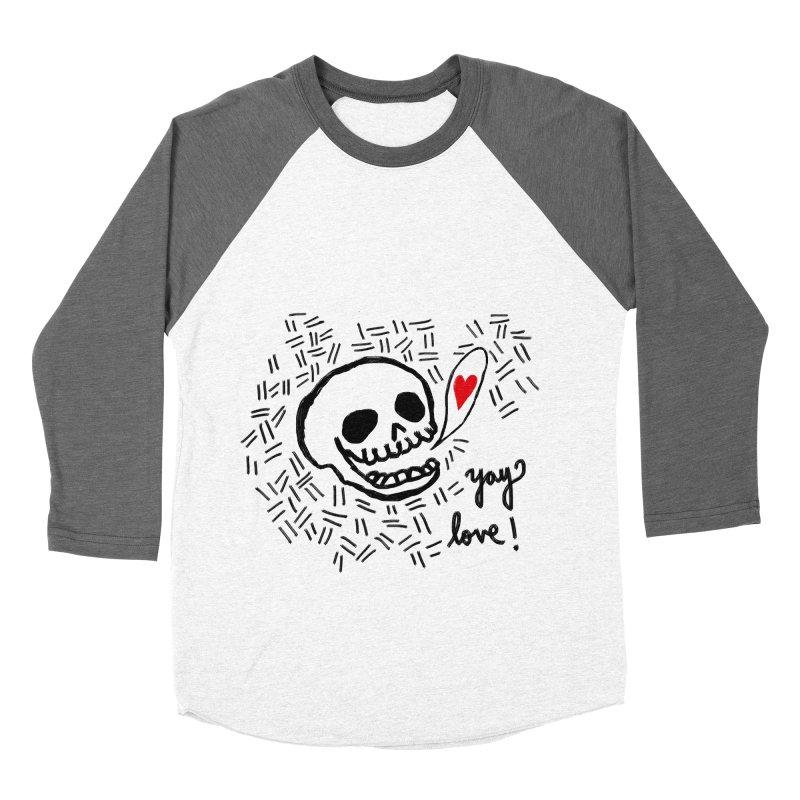 Yay Love! Men's Baseball Triblend Longsleeve T-Shirt by Ashley Topacio's Artist Shop