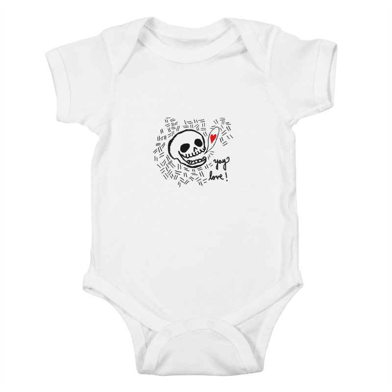 Yay Love! Kids Baby Bodysuit by Ashley Topacio's Artist Shop