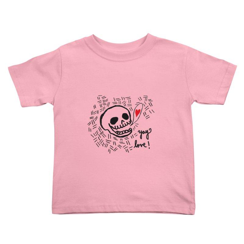 Yay Love! Kids Toddler T-Shirt by Ashley Topacio's Artist Shop
