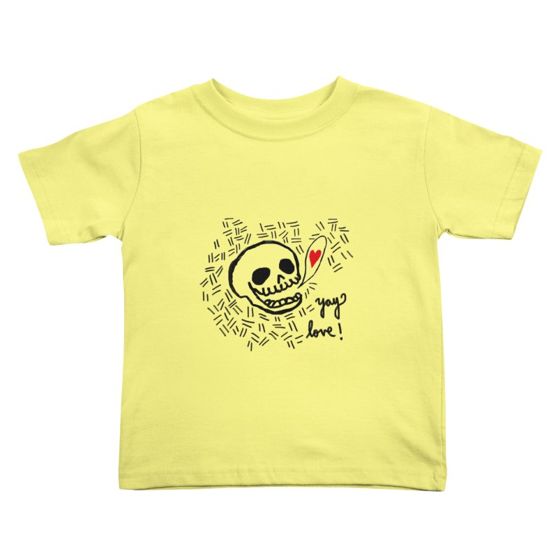 Yay Love! Kids Toddler T-Shirt by Ashley Topacio's Artist Shop