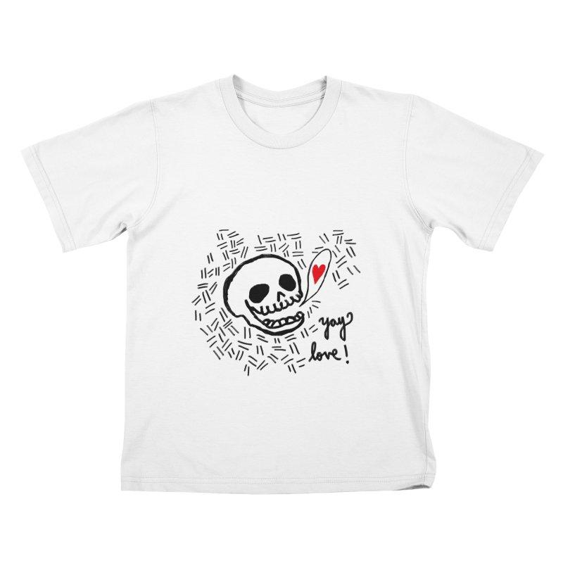Yay Love! Kids T-Shirt by Ashley Topacio's Threadless Shop