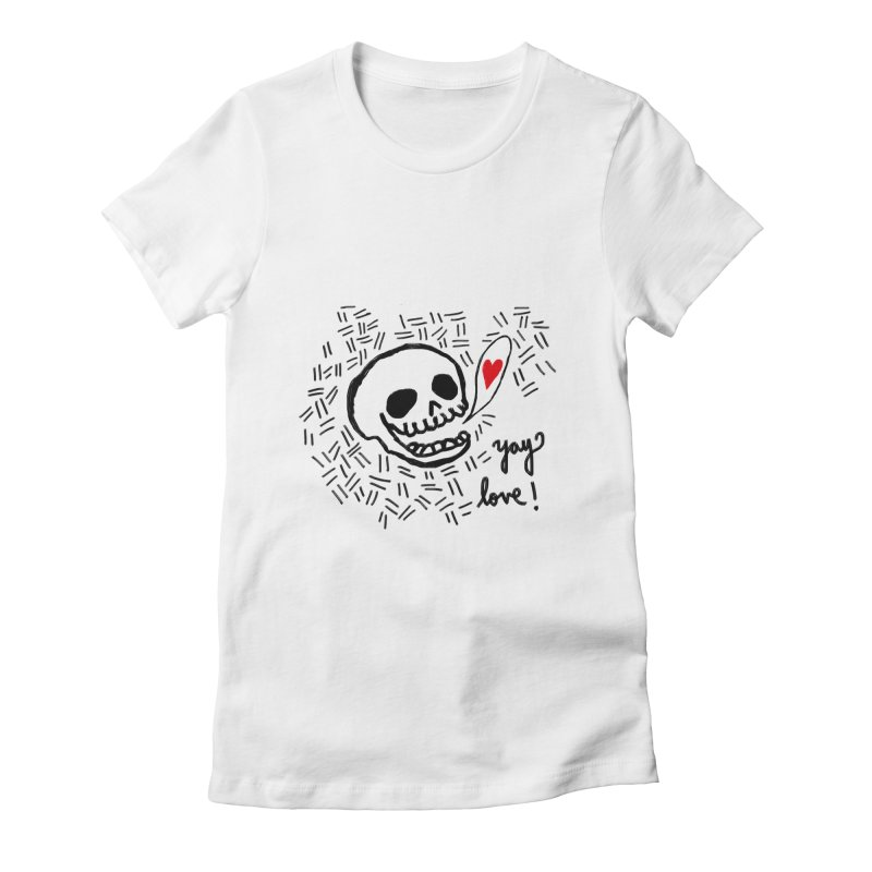 Yay Love! Women's Fitted T-Shirt by Ashley Topacio's Artist Shop
