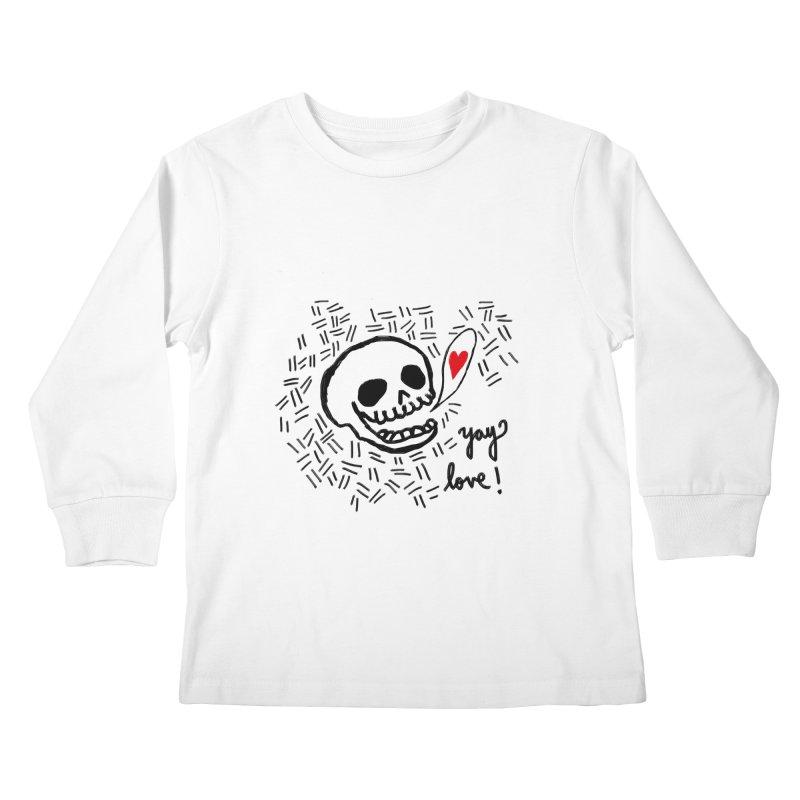 Yay Love! Kids Longsleeve T-Shirt by Ashley Topacio's Artist Shop