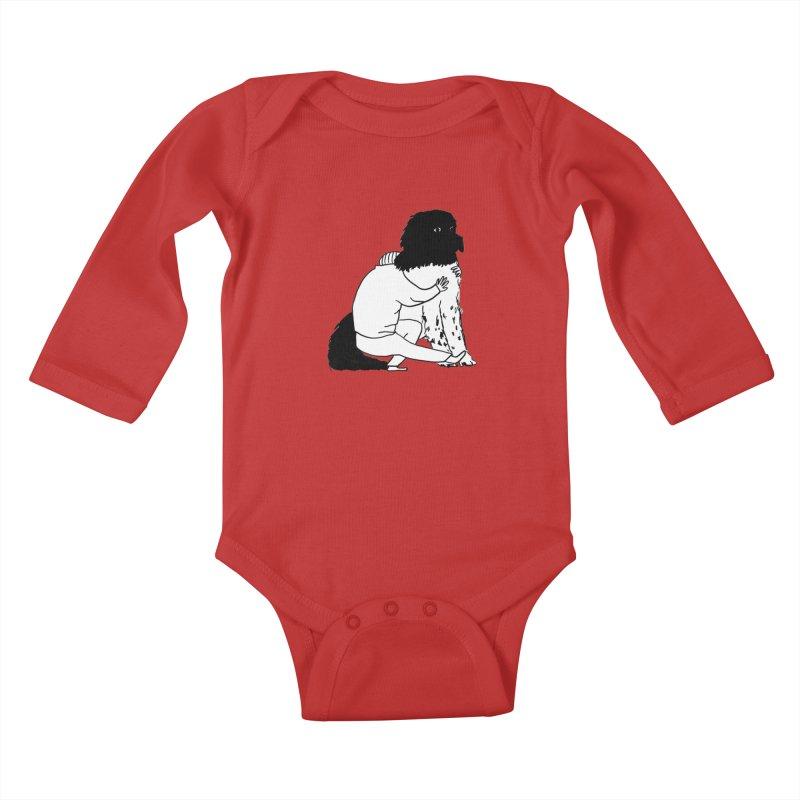 I Like Big Mutts... Kids Baby Longsleeve Bodysuit by Ashley Topacio's Threadless Shop