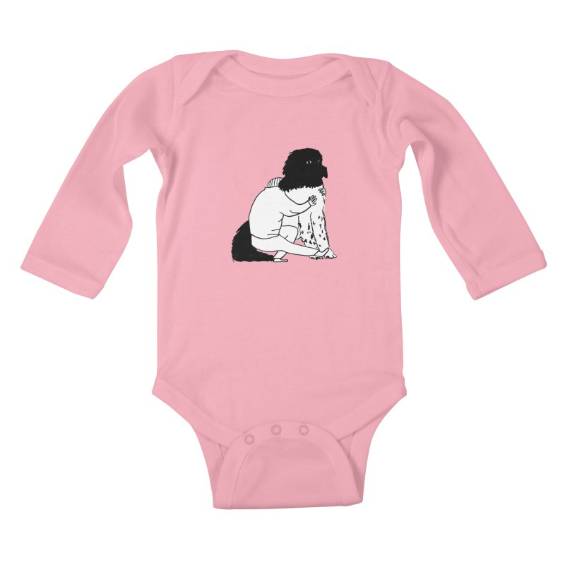 I Like Big Mutts... Kids Baby Longsleeve Bodysuit by Ashley Topacio's Artist Shop