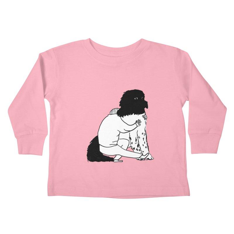 I Like Big Mutts... Kids Toddler Longsleeve T-Shirt by Ashley Topacio's Artist Shop