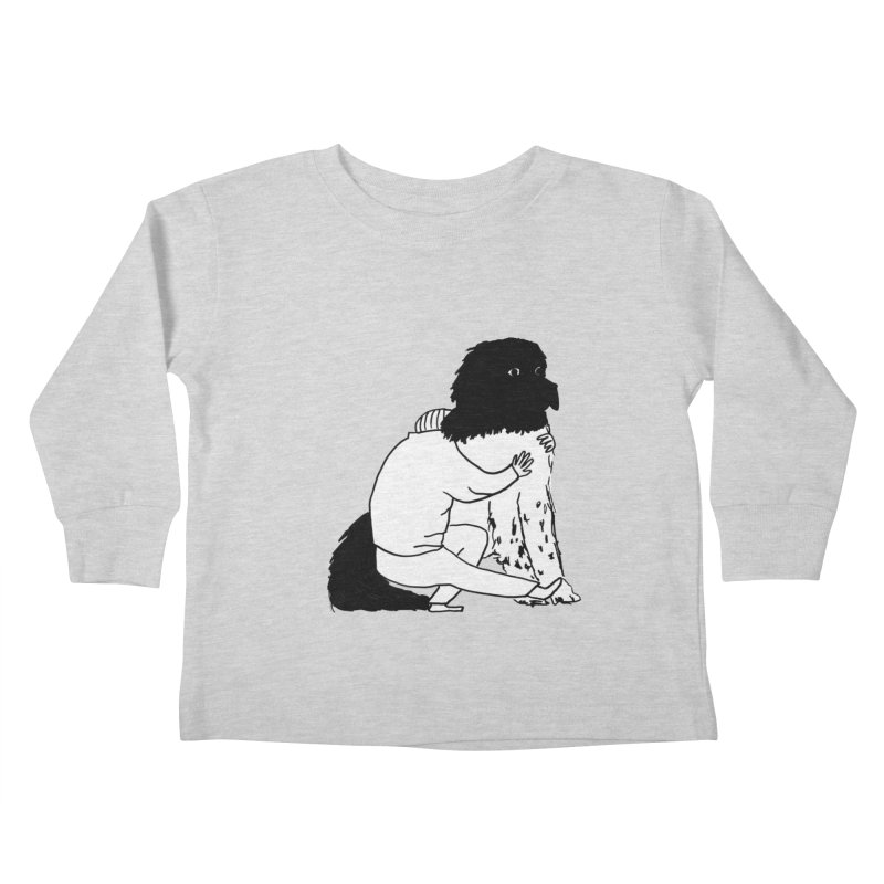 I Like Big Mutts... Kids Toddler Longsleeve T-Shirt by Ashley Topacio's Artist Shop