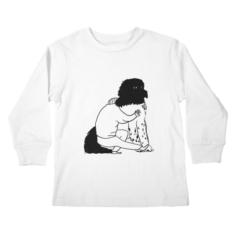 I Like Big Mutts... Kids Longsleeve T-Shirt by Ashley Topacio's Artist Shop