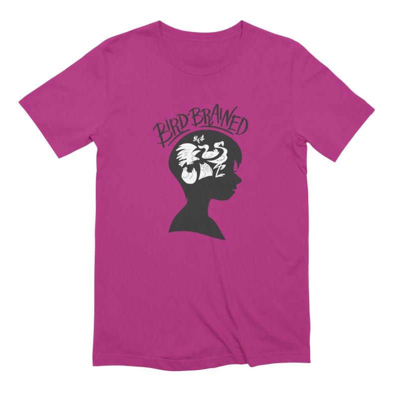 Bird-Brained Men's Extra Soft T-Shirt by ashsans art & design shop