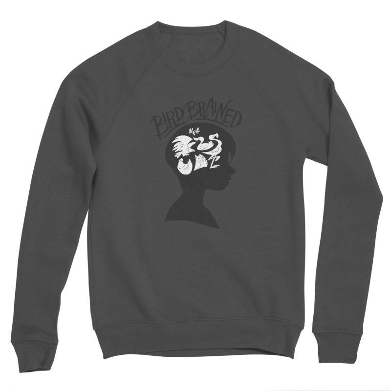 Bird-Brained Men's Sponge Fleece Sweatshirt by ashsans art & design shop