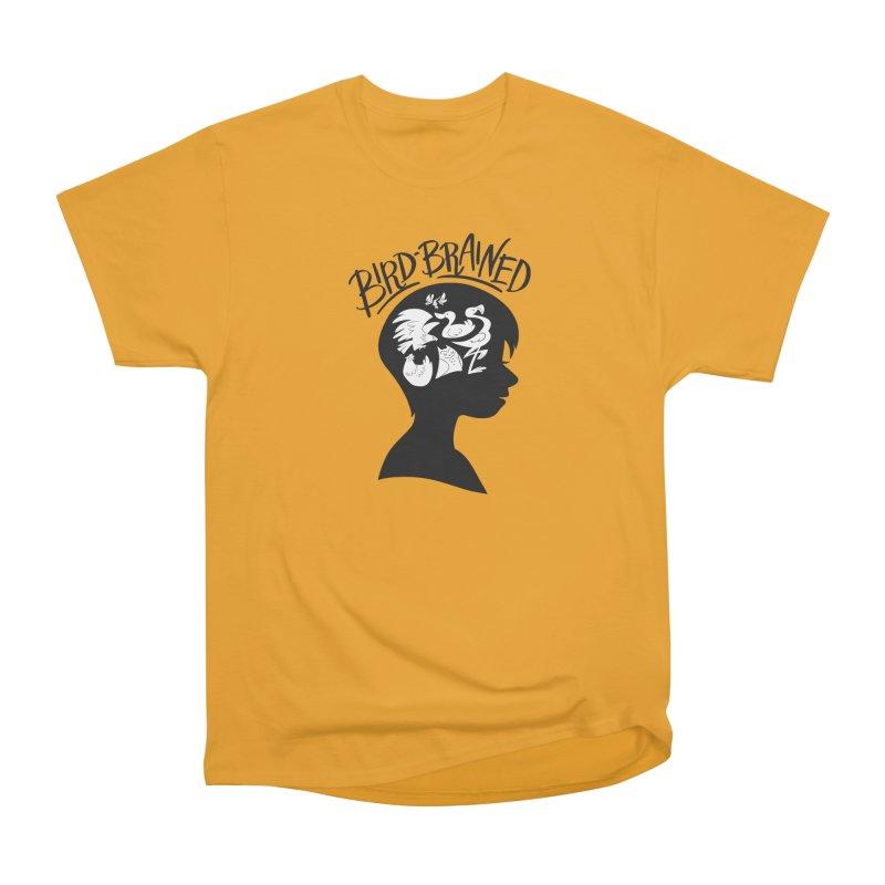 Bird-Brained Men's Heavyweight T-Shirt by ashsans art & design shop
