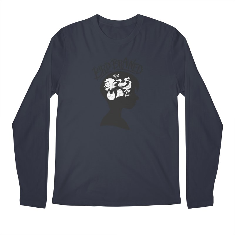 Bird-Brained Men's Regular Longsleeve T-Shirt by ashsans art & design shop