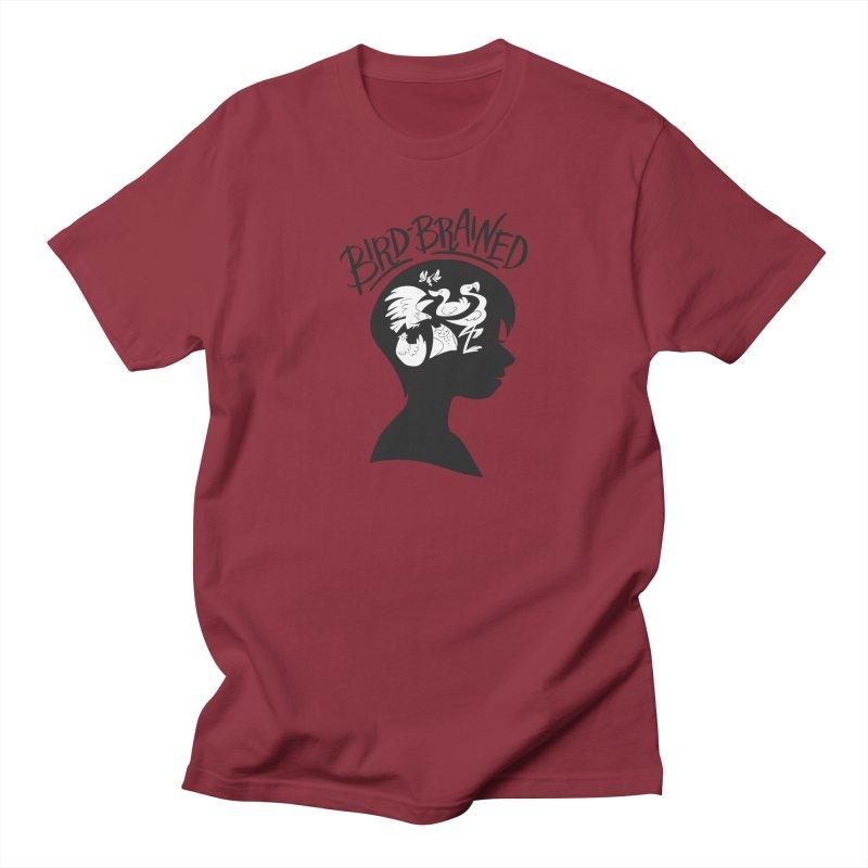 Bird-Brained Women's Regular Unisex T-Shirt by ashsans art & design shop