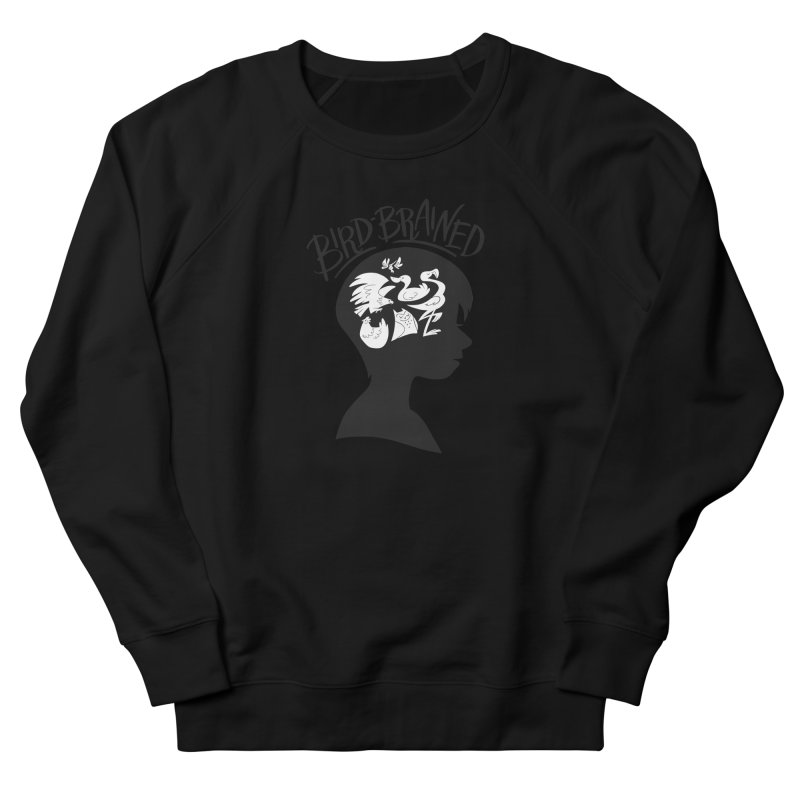 Bird-Brained Men's French Terry Sweatshirt by ashsans art & design shop