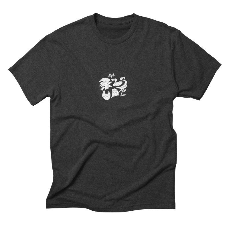 Bird-Brained Men's Triblend T-Shirt by ashsans art & design shop