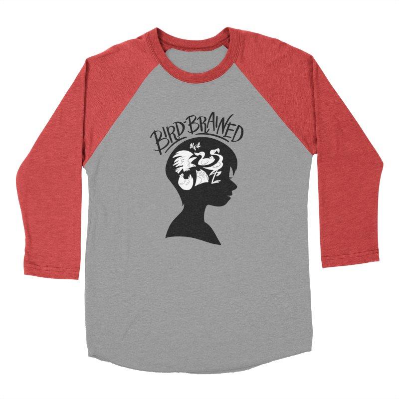 Bird-Brained Women's Baseball Triblend Longsleeve T-Shirt by ashsans art & design shop