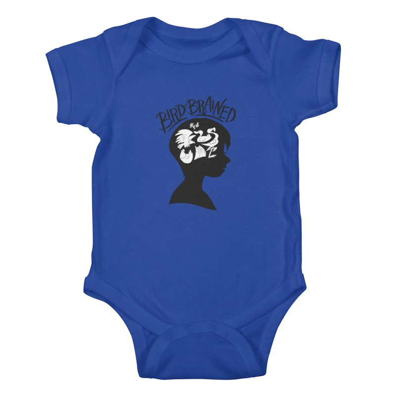 Bird-Brained Kids Baby Bodysuit by ashsans art & design shop