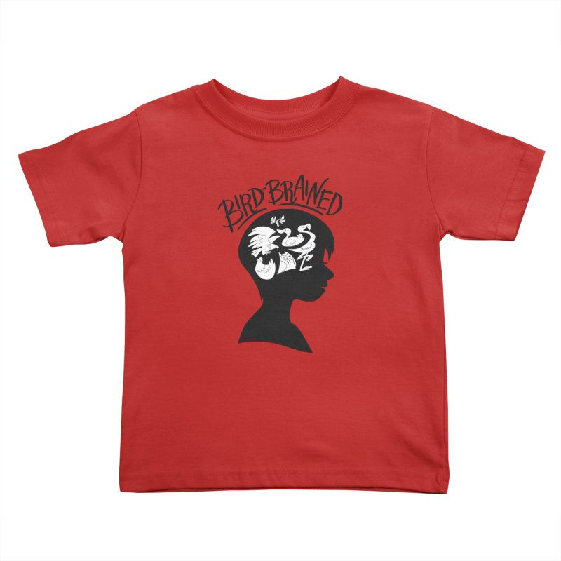 Bird-Brained Kids Toddler T-Shirt by ashsans art & design shop