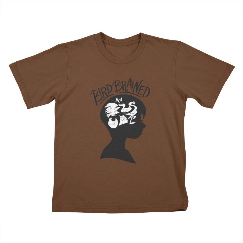 Bird-Brained Kids T-Shirt by ashsans art & design shop