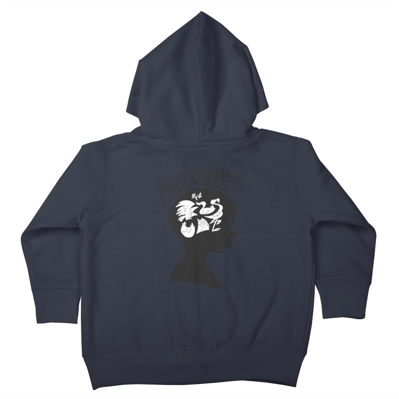 Bird-Brained Kids Toddler Zip-Up Hoody by ashsans art & design shop