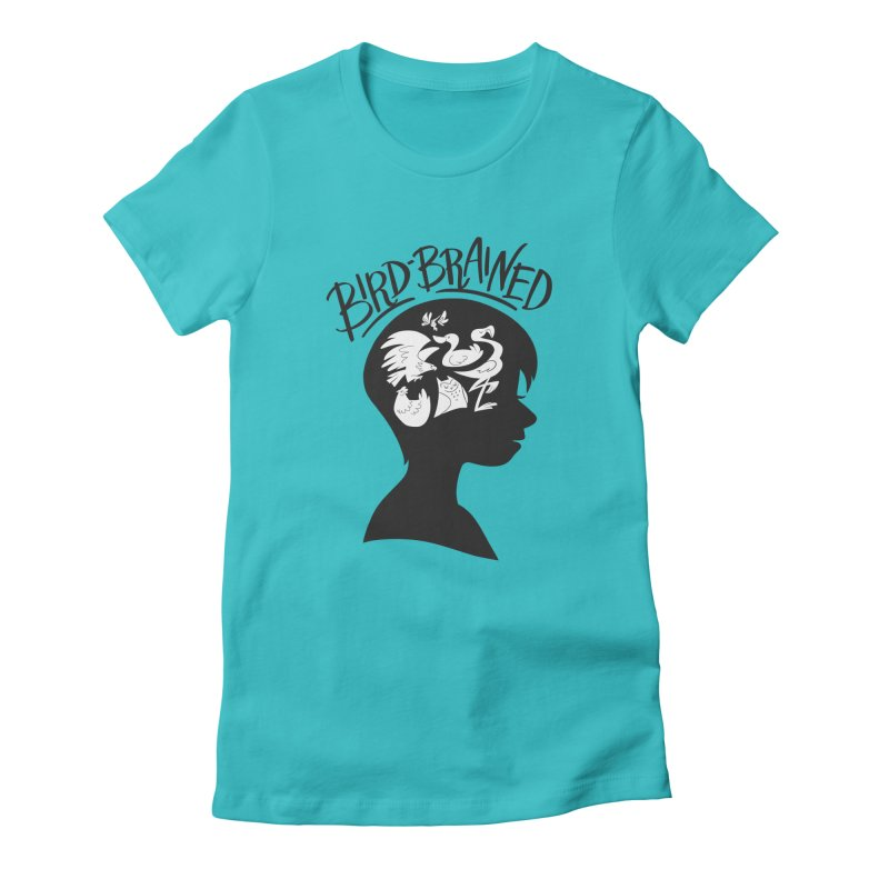 Bird-Brained Women's Fitted T-Shirt by ashsans art & design shop
