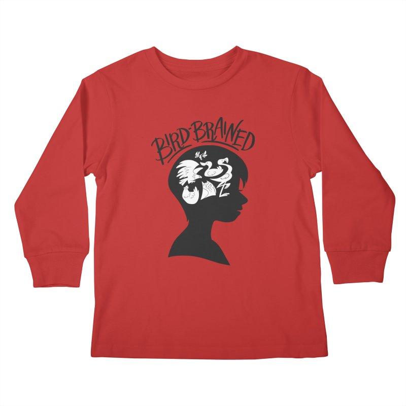 Bird-Brained Kids Longsleeve T-Shirt by ashsans art & design shop