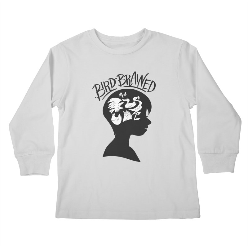 Bird-Brained Kids Longsleeve T-Shirt by ashsans art & design shop