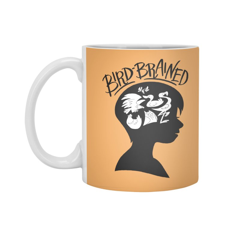 Bird-Brained Accessories Standard Mug by ashsans art & design shop