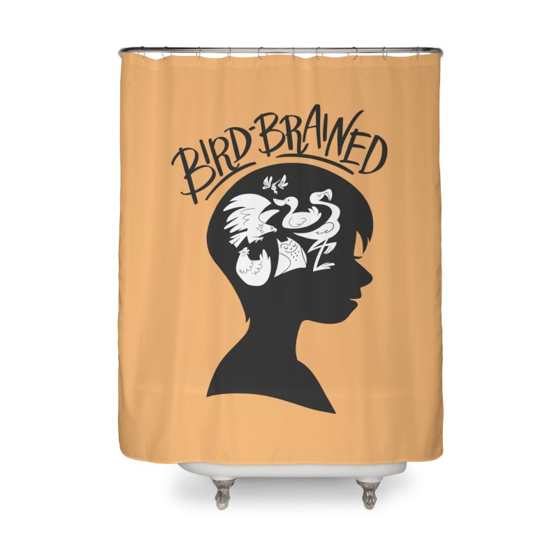 Bird-Brained Home Shower Curtain by ashsans art & design shop