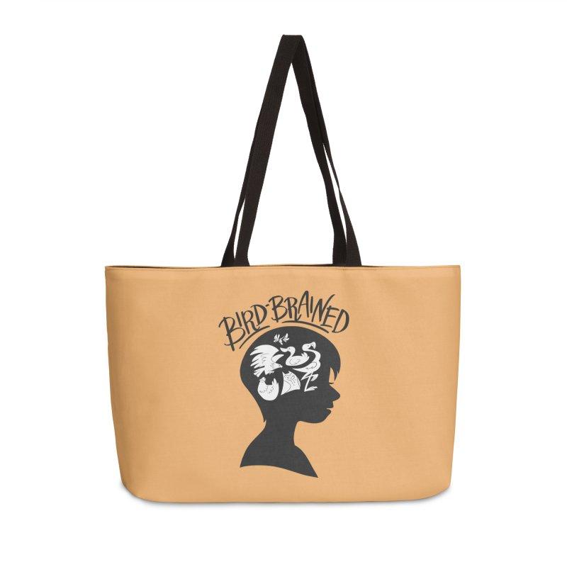 Bird-Brained Accessories Weekender Bag Bag by ashsans art & design shop