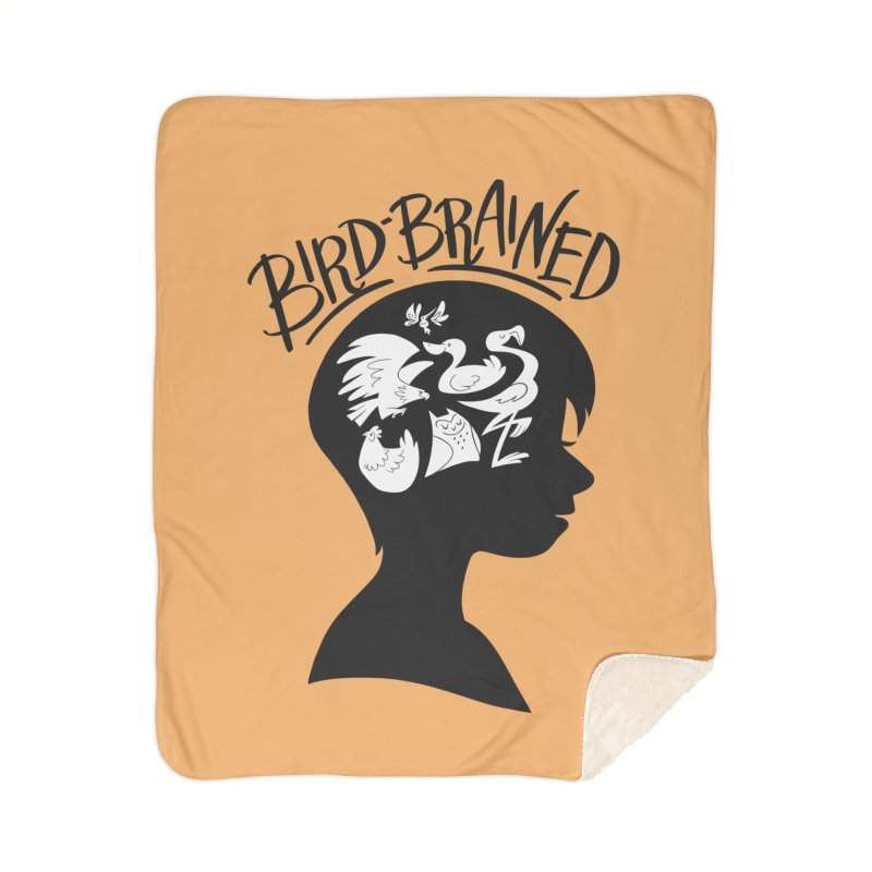 Bird-Brained Home Sherpa Blanket Blanket by ashsans art & design shop