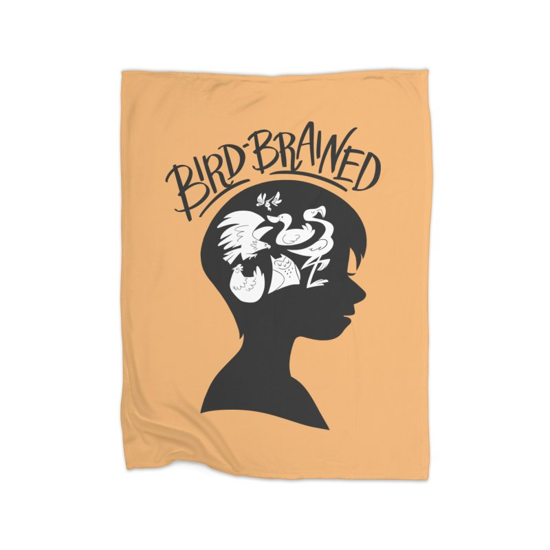Bird-Brained Home Fleece Blanket Blanket by ashsans art & design shop