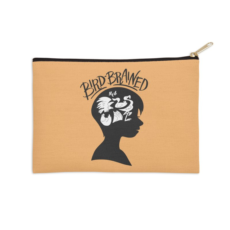 Bird-Brained Accessories Zip Pouch by ashsans art & design shop