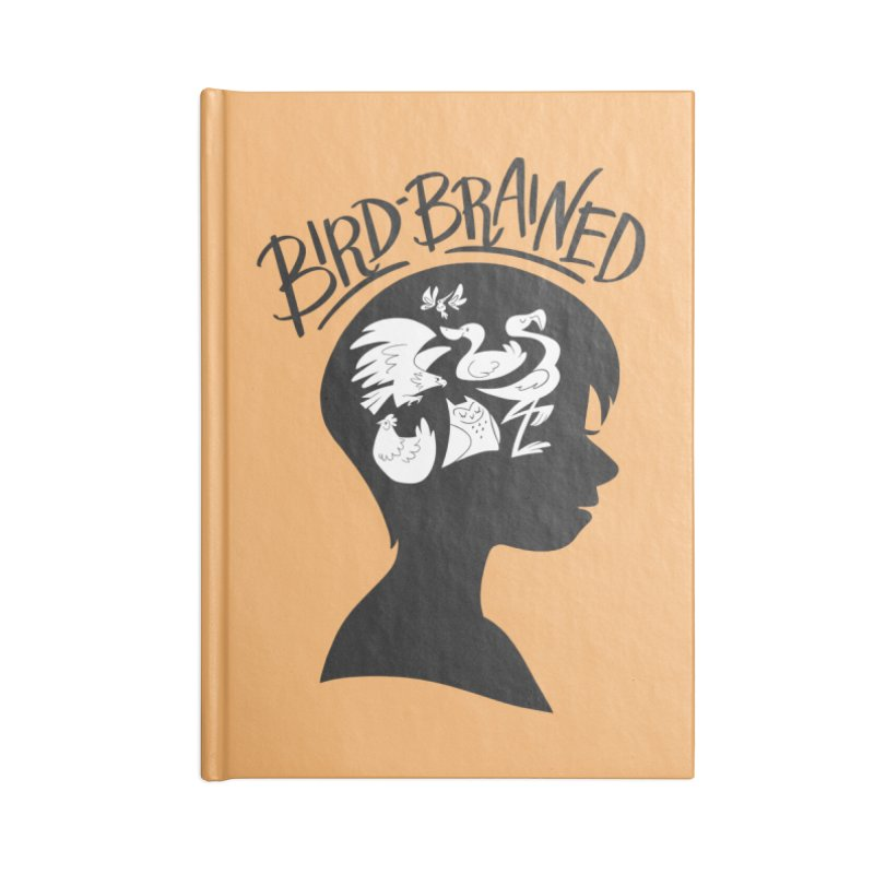 Bird-Brained Accessories Lined Journal Notebook by ashsans art & design shop
