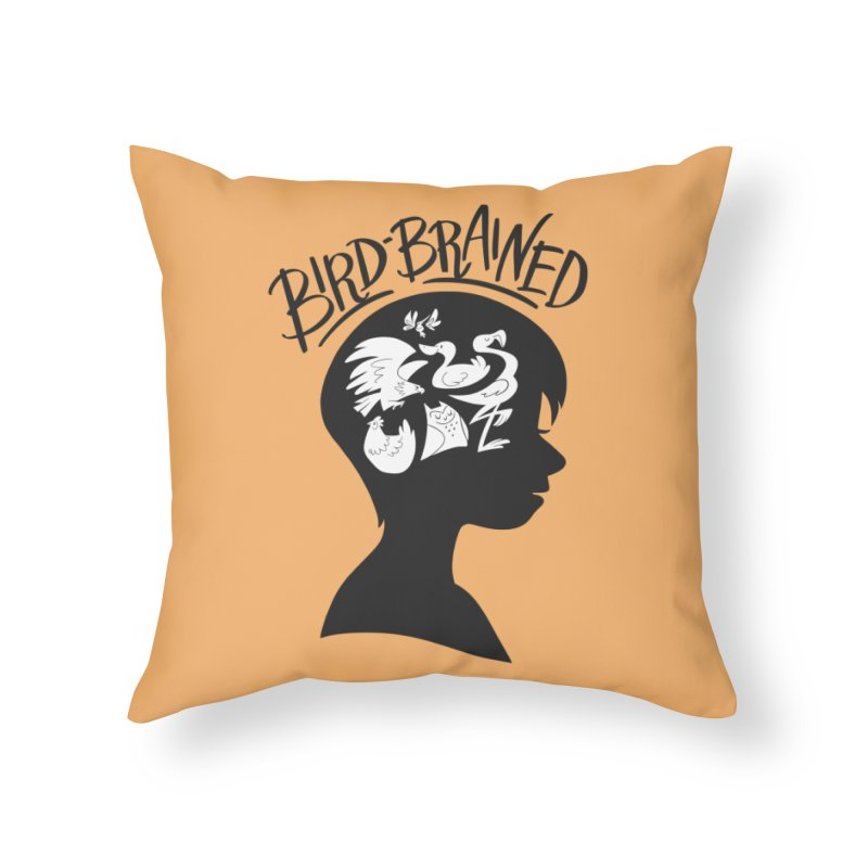 Bird-Brained Home Throw Pillow by ashsans art & design shop