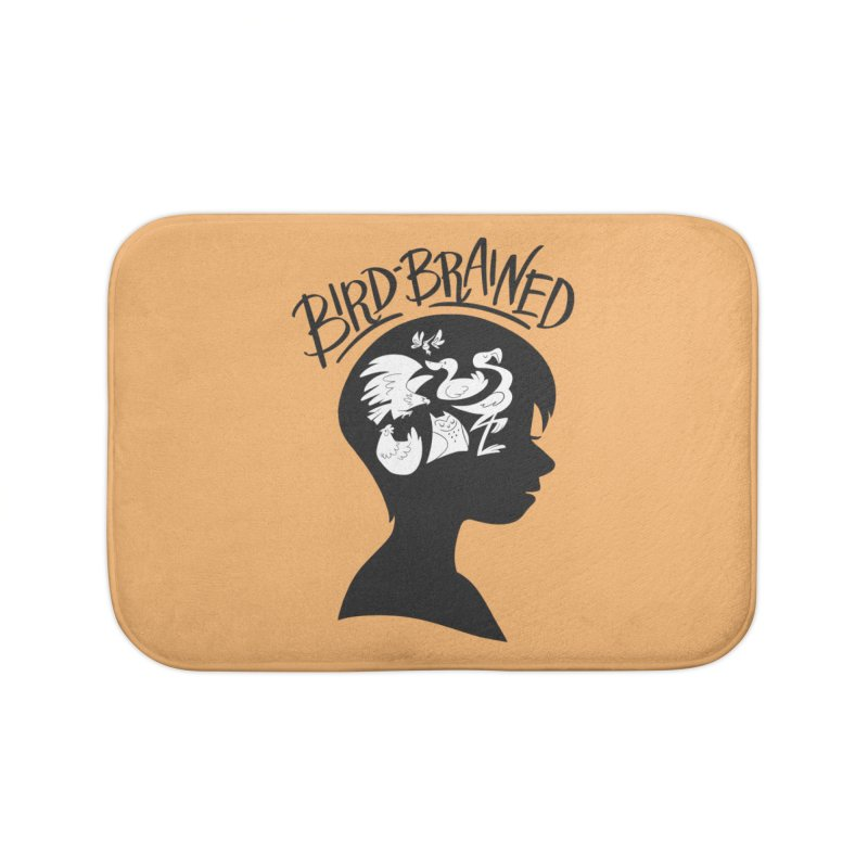 Bird-Brained Home Bath Mat by ashsans art & design shop