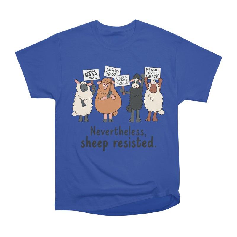 Nevertheless, Sheep Resisted Men's Heavyweight T-Shirt by ashsans art & design shop