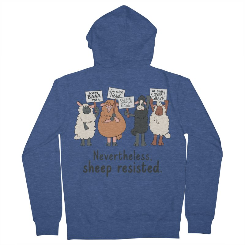 Nevertheless, Sheep Resisted Women's French Terry Zip-Up Hoody by ashsans art & design shop