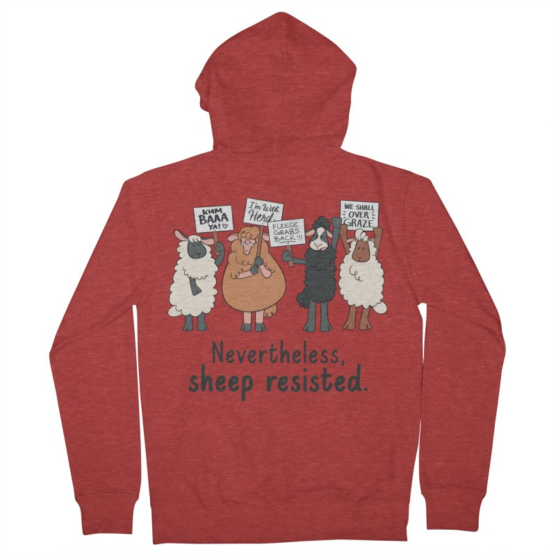 Nevertheless, Sheep Resisted Men's French Terry Zip-Up Hoody by ashsans art & design shop