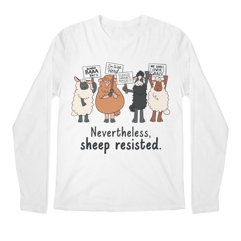 Nevertheless, Sheep Resisted Men's Regular Longsleeve T-Shirt by ashsans art & design shop